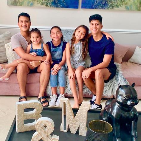 Barbara Bermudo, Mario Andres Moreno, hijos