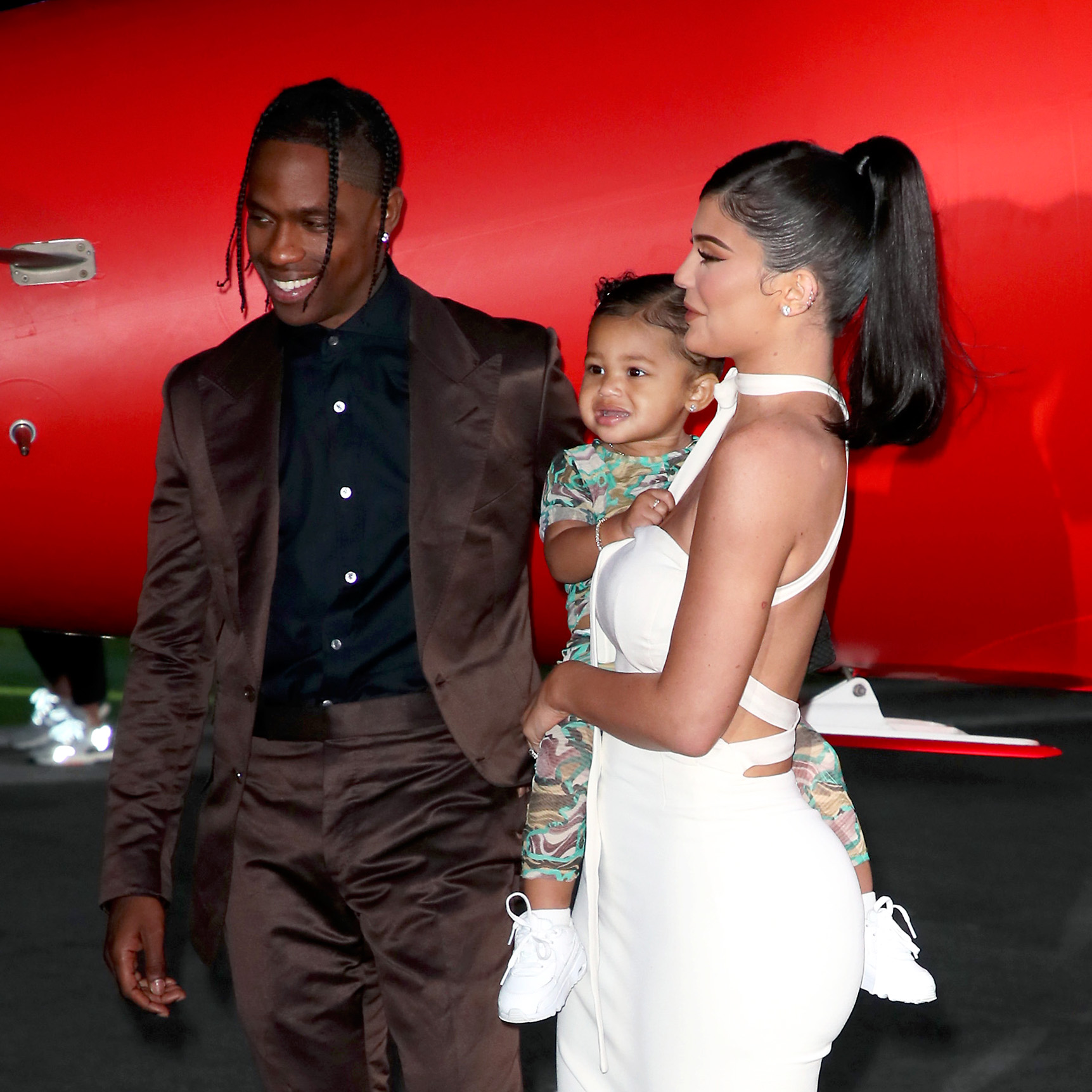 Travis Scott, Stormi Webster, and Kylie Jenner