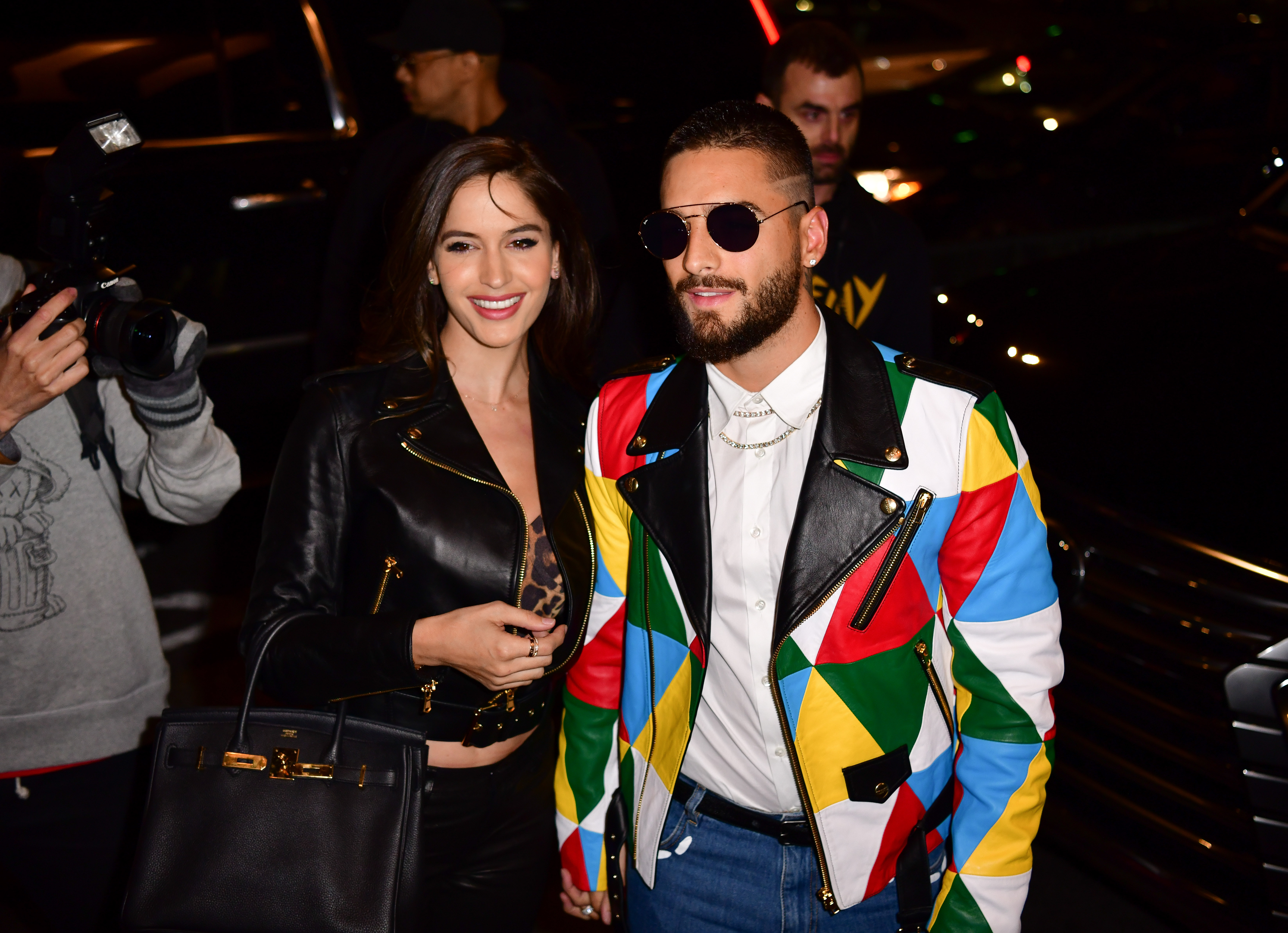 Natalia Barulich and Maluma