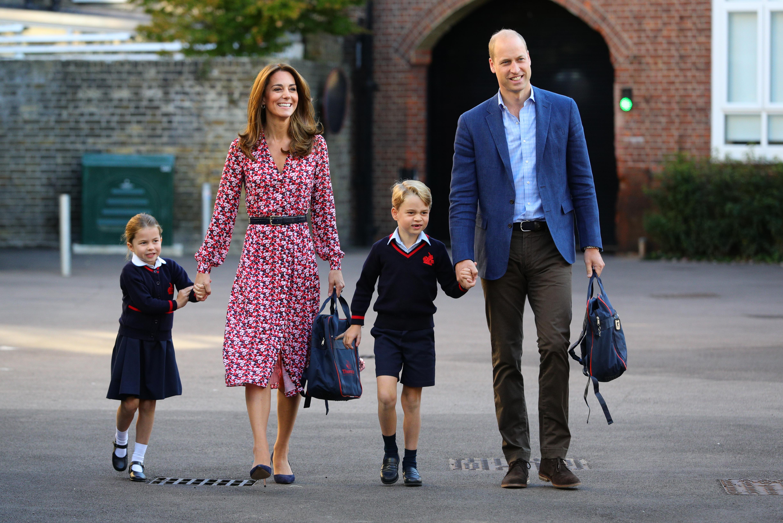 Kate Middleton, príncipe William , príncipe George y princesa Charlotte
