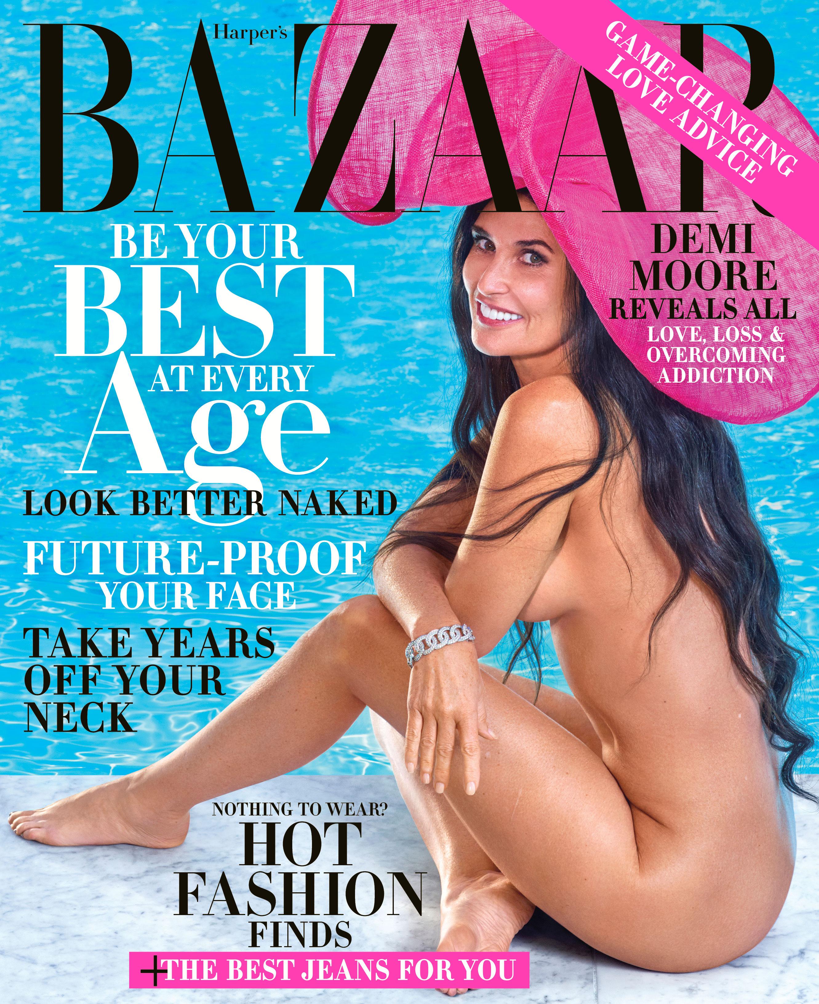 Demi Moore - Harper's Bazaar cover