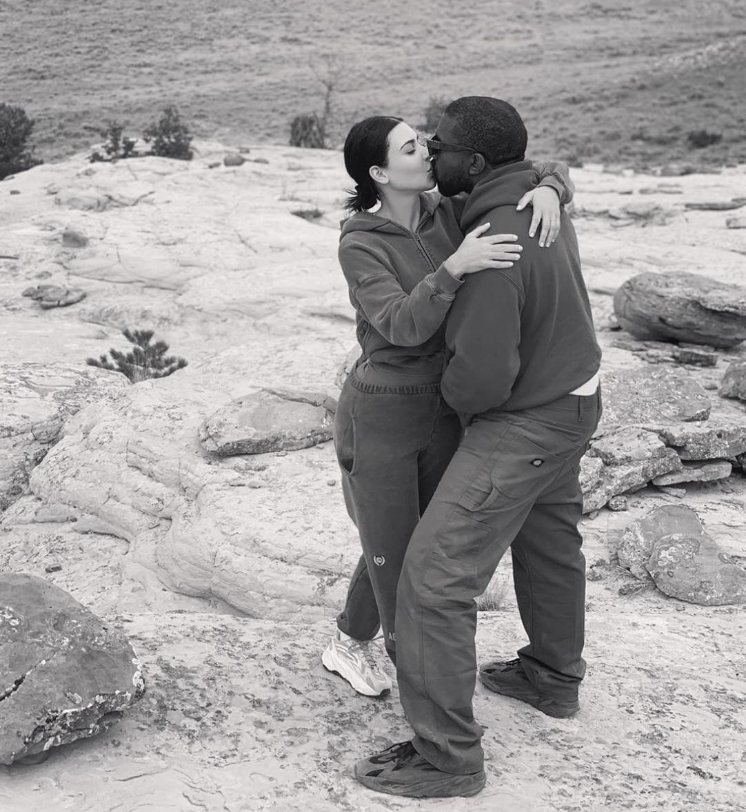 Kanye y Kim Kardashian West