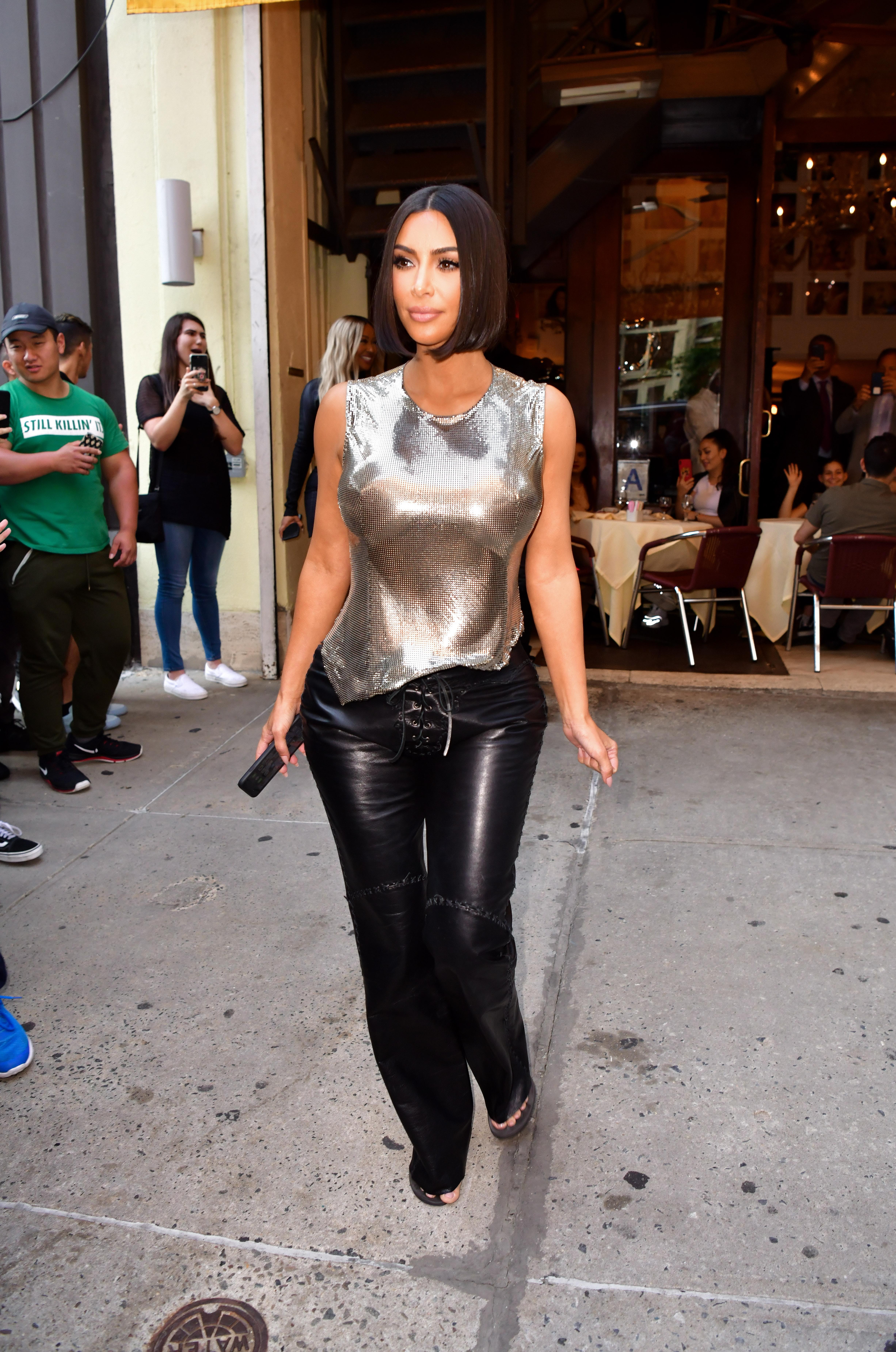 Kim Kardashian, looks, new york , semana de la moda
