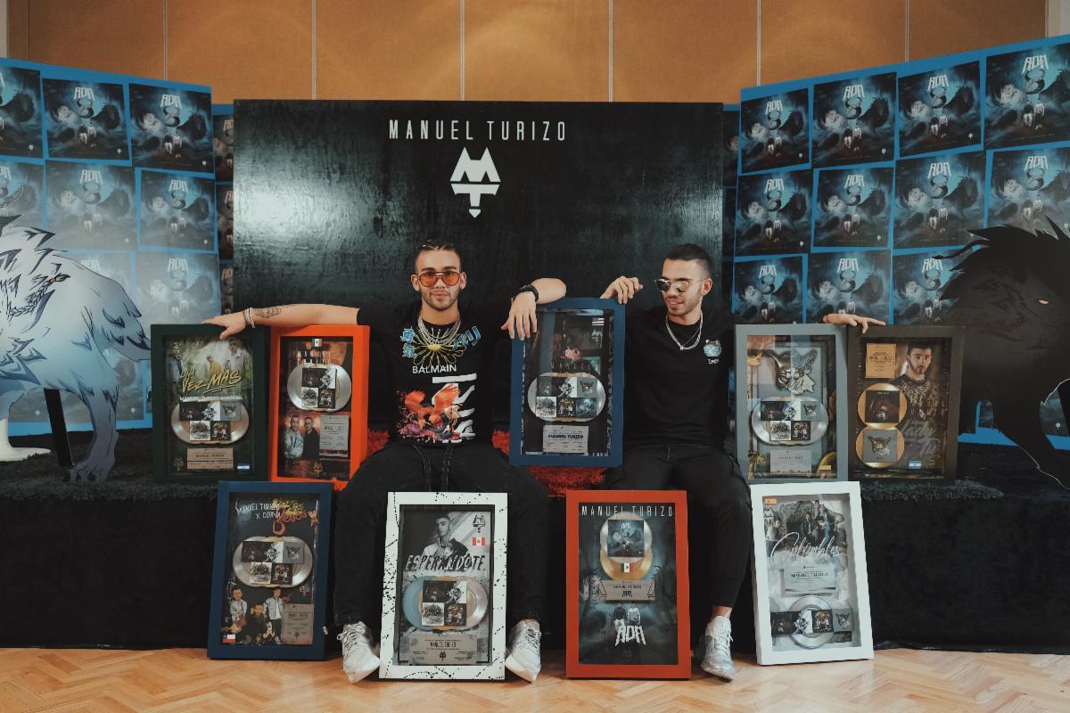 Manuel Turizo y Julián Turizo certificaciones de oro, diamante y platino en mexico ADN