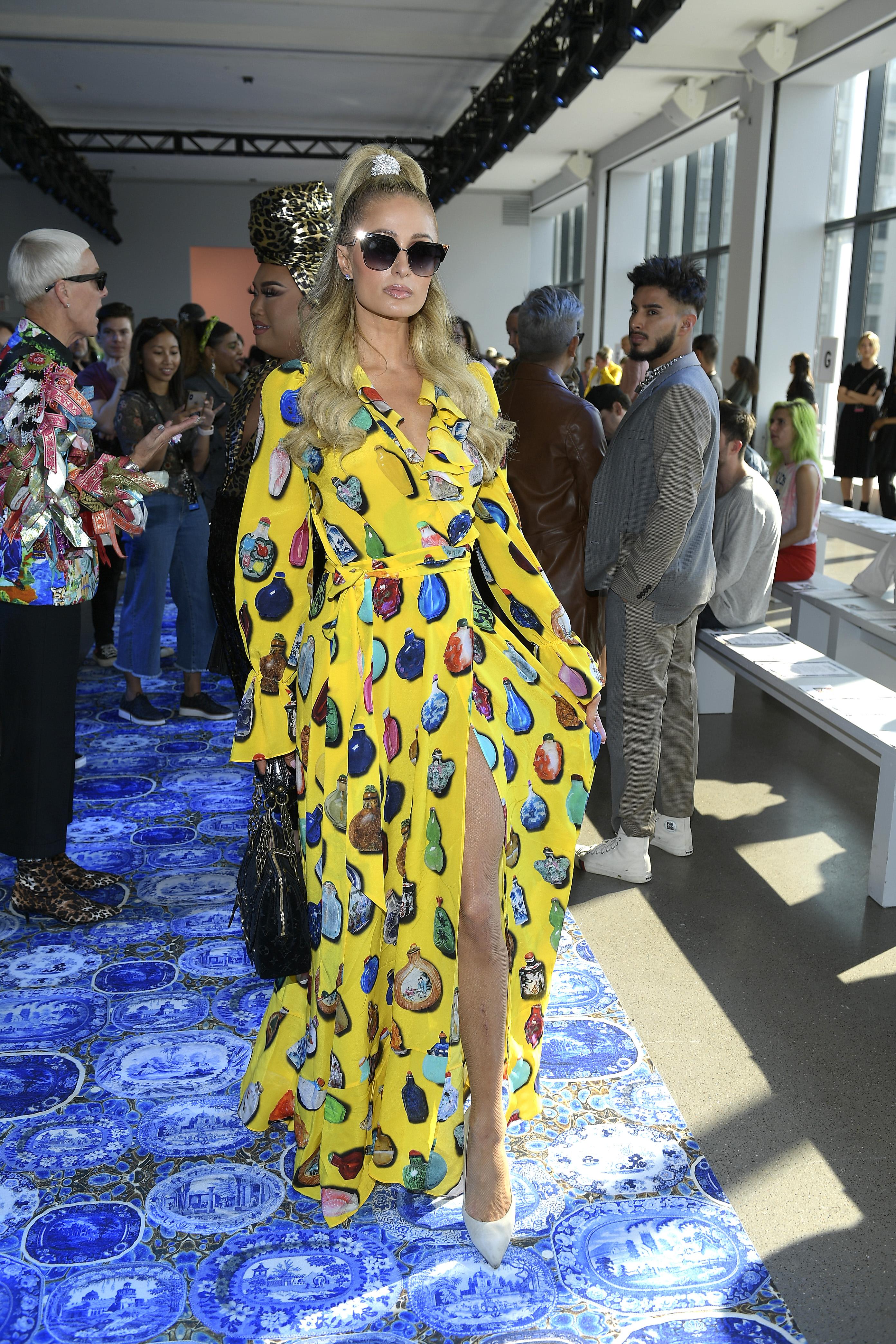 Paris Hilton, looks, semana de la moda, nueva york