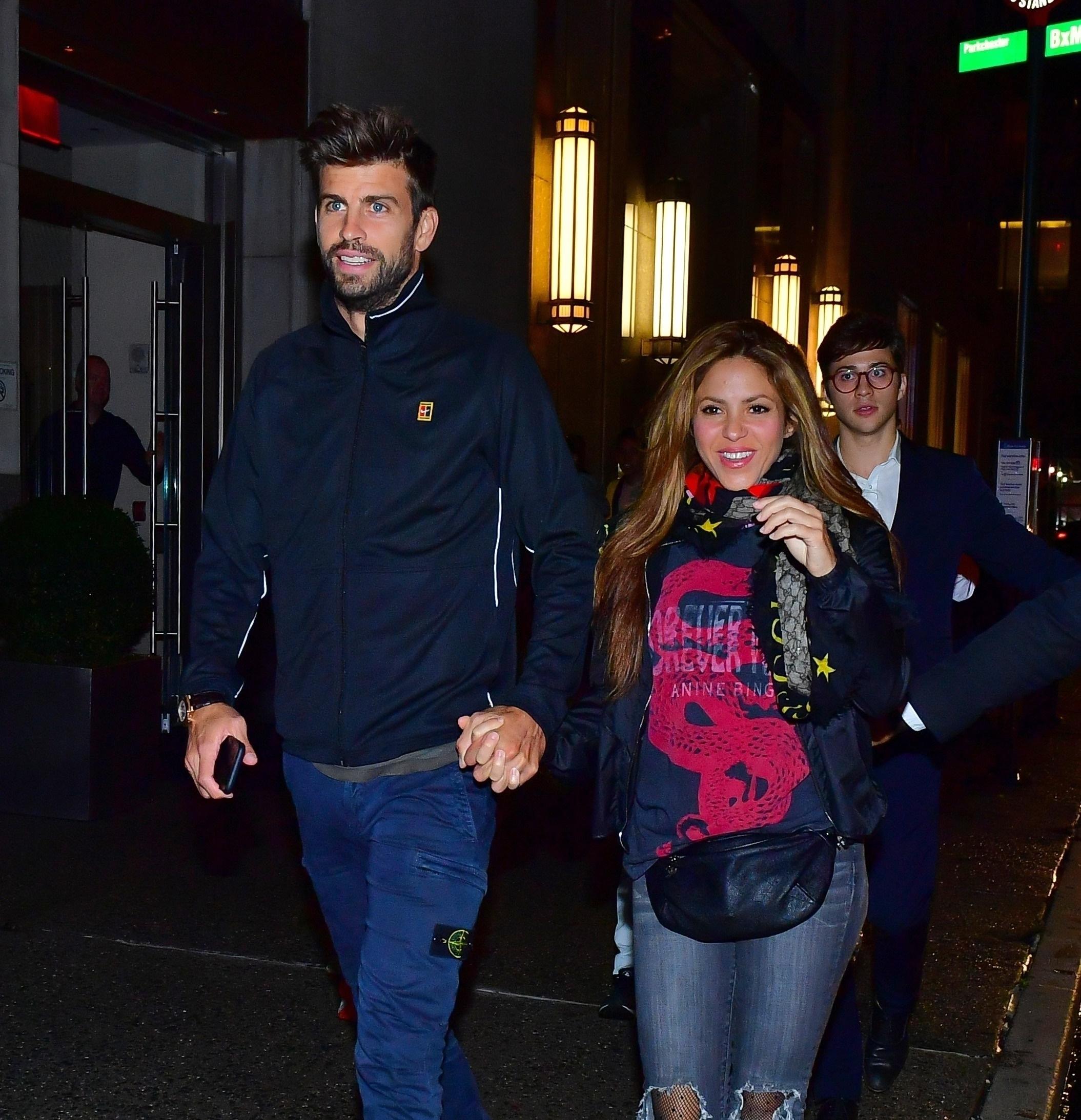 Shakira con Gerard Piqué en Nueva york