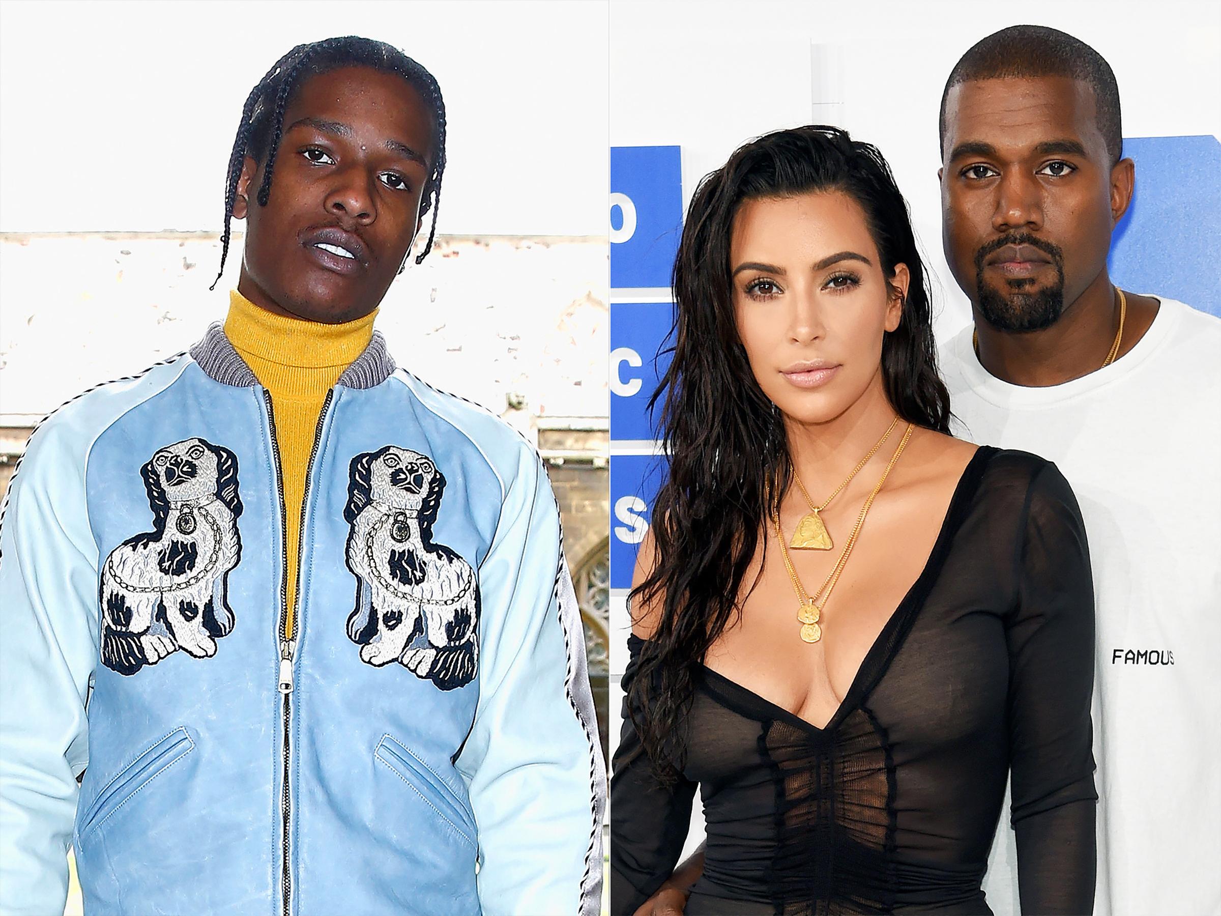 Asap Rocky y Kardashian West
