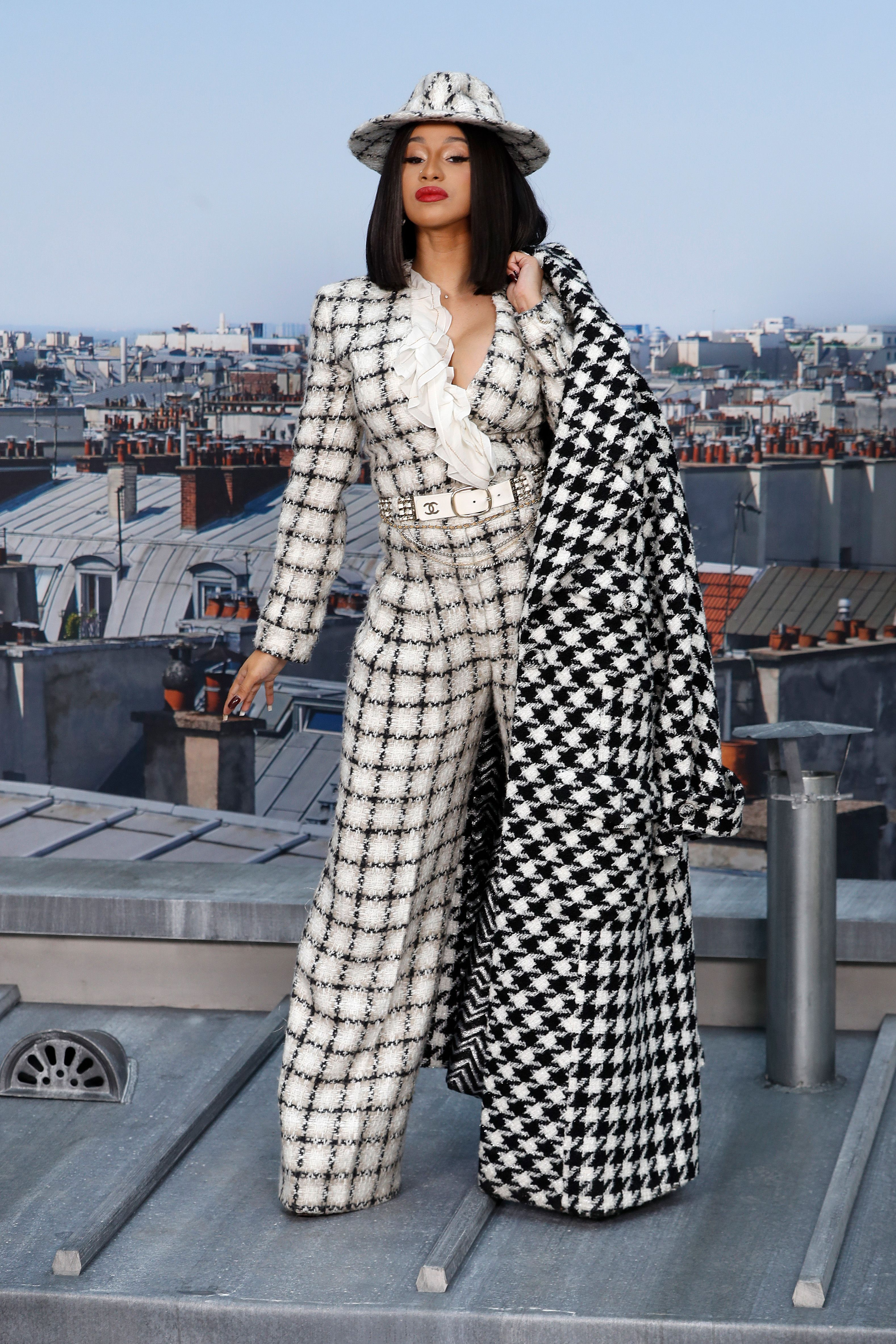 Cardi B, paris, semana de la moda de paris, look