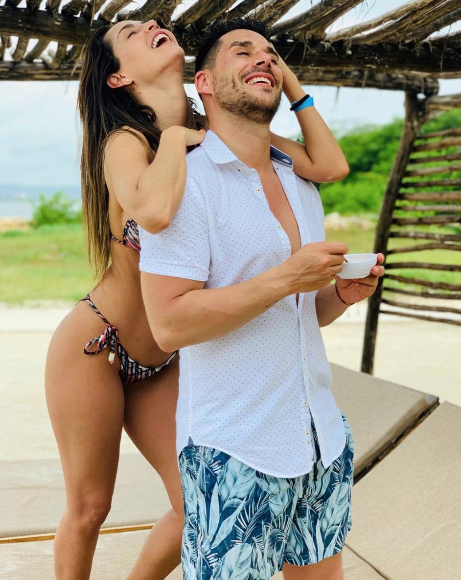 Carmen Villalobos y Sebastian Caicedo
