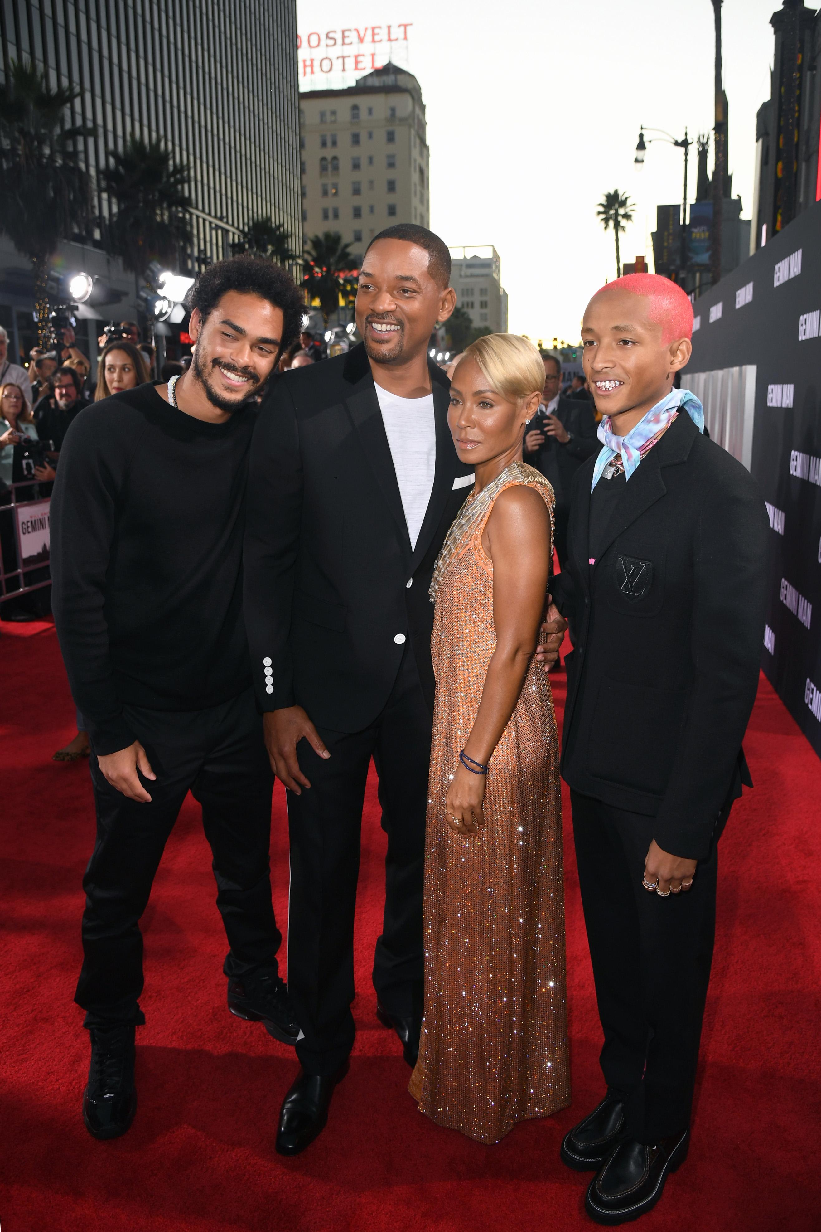 Will Smith y familia en premiere gemini man
