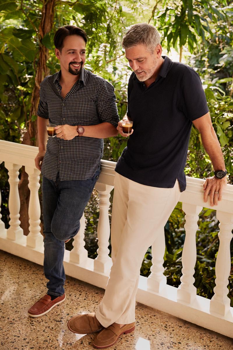 Lin Manuel Miranda George Clooney cafe puerto rico nescafe