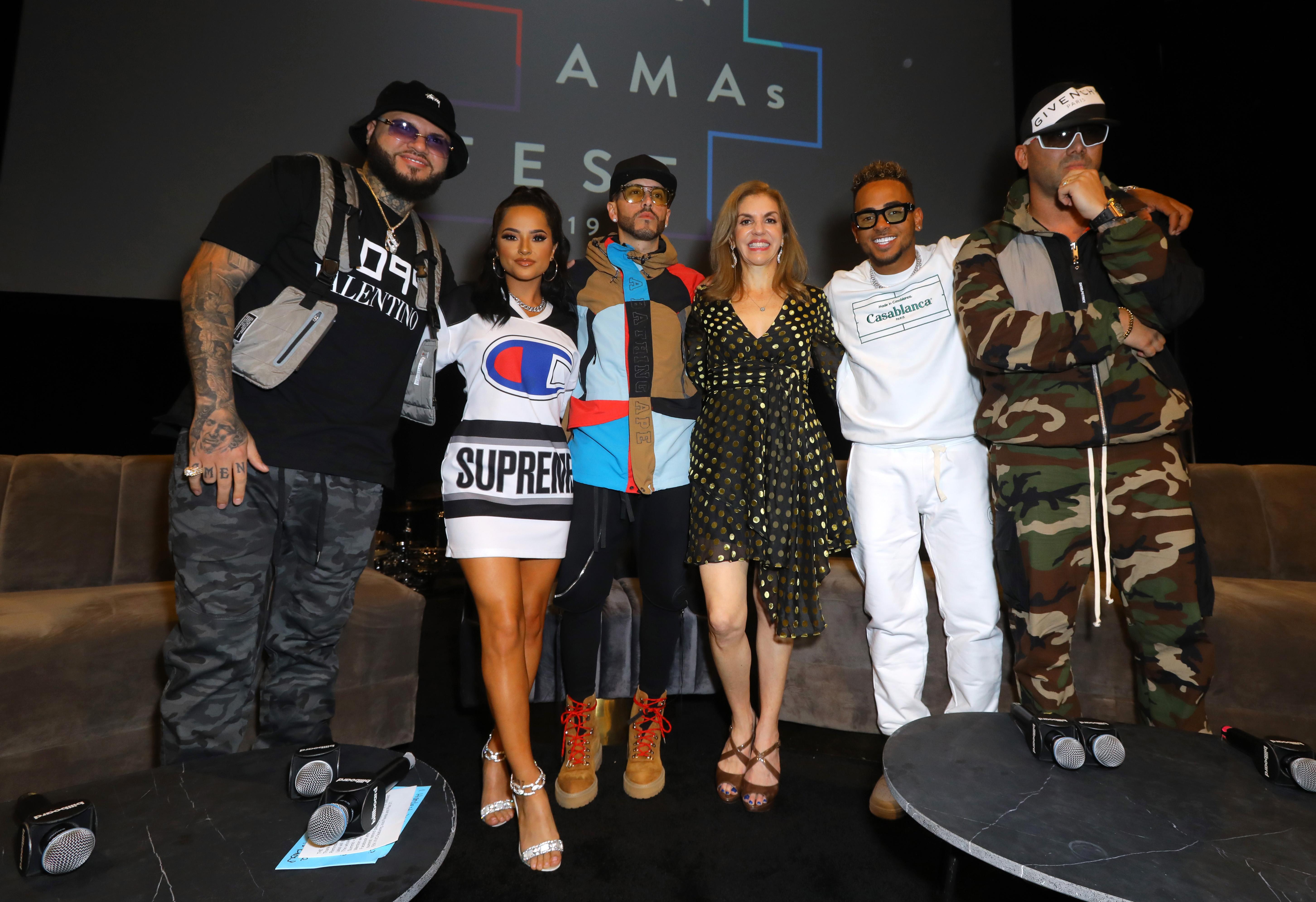 Farruko, Becky G, Leila Cobo, Yandel, Ozuna y Wisin en Billboard Latin AMA Fest