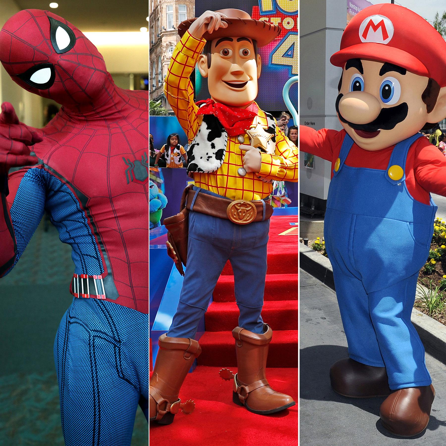 spiderman, toy story, mario bros, halloween