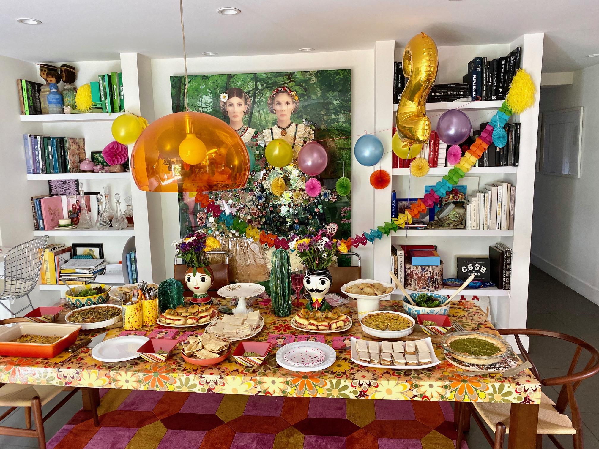 Candela Ferro y su familia, fiesta Oleta