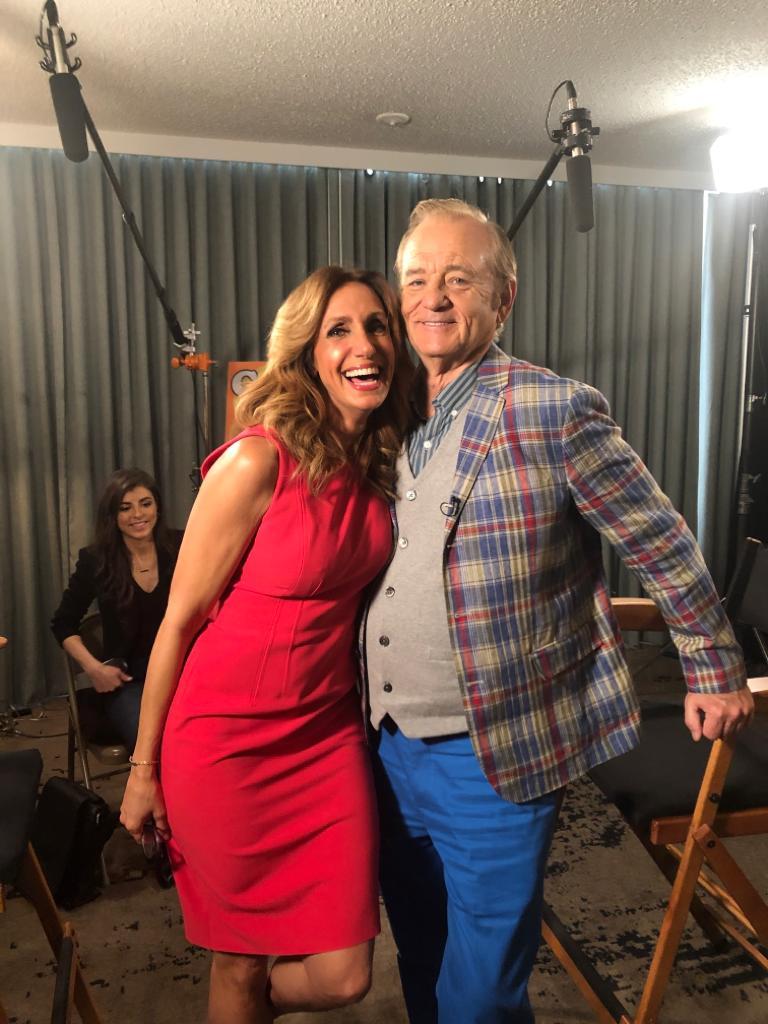 Lili Estefan y Bill Murray