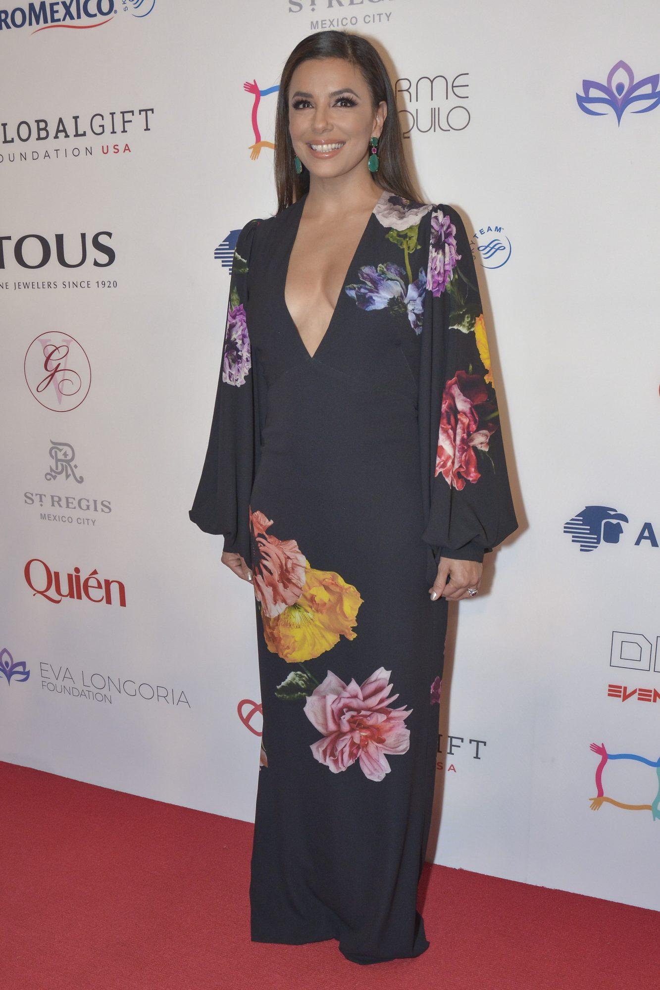 Eva Longoria, look, global gift gala, mexico