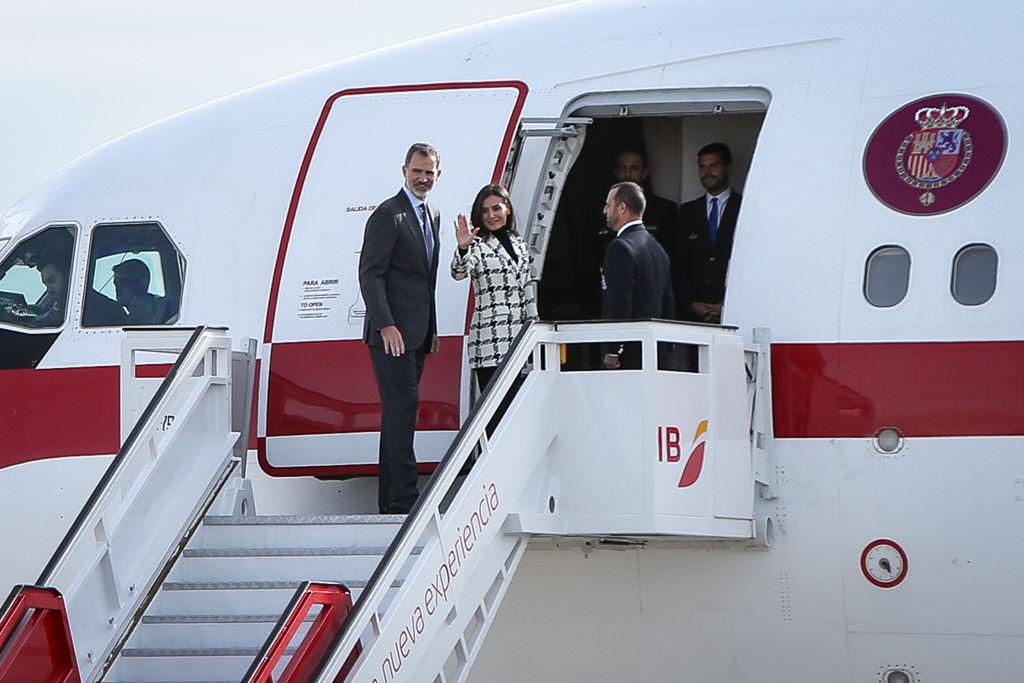 Spanish Royals Depart For Cuba