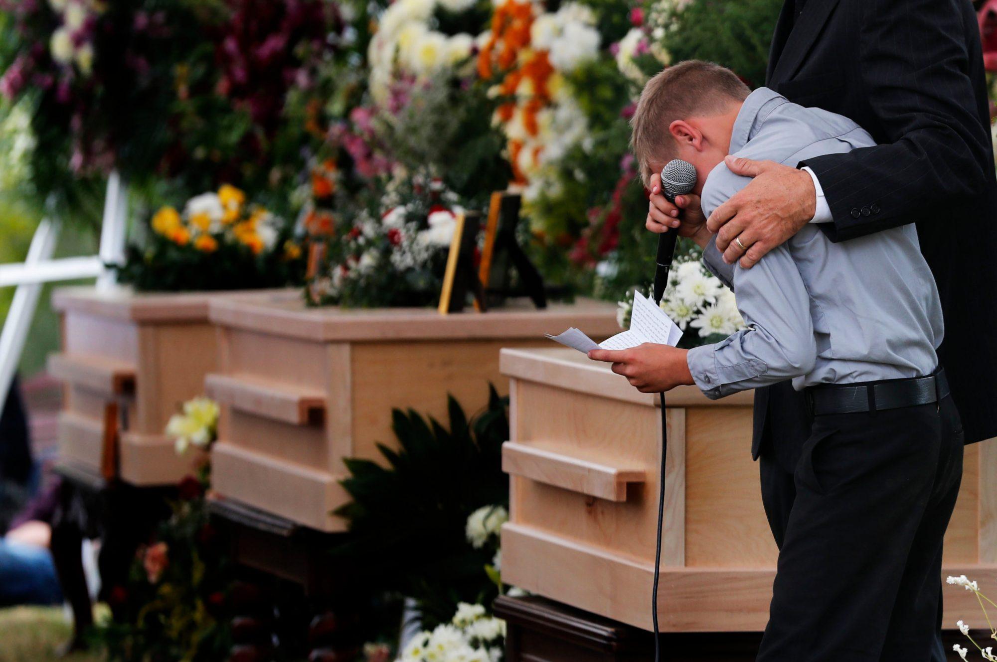 Funeral de las victimas en Mexico