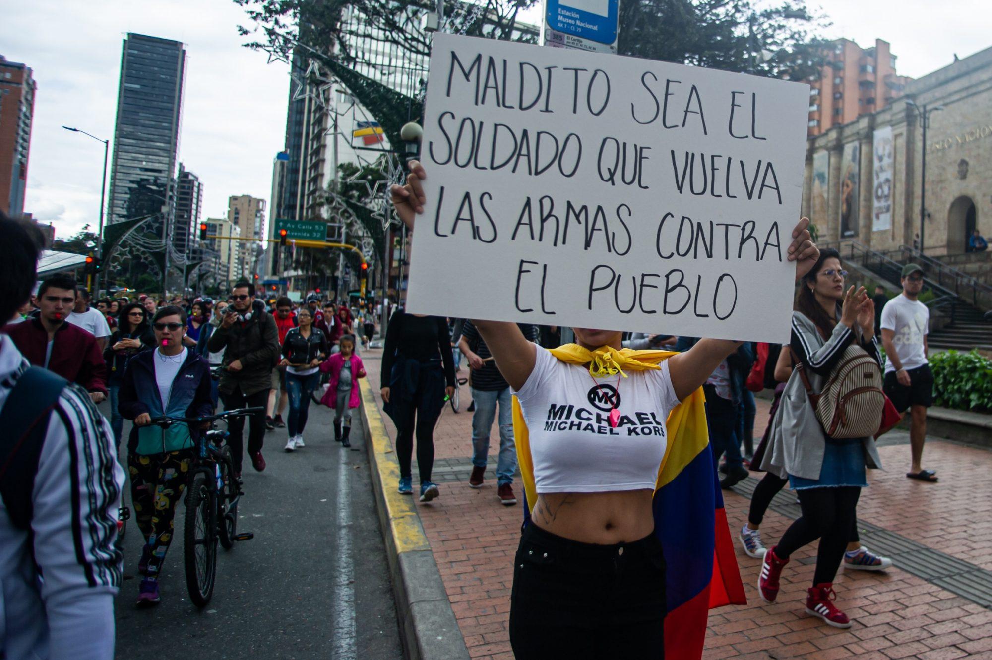 Protest In Bogota