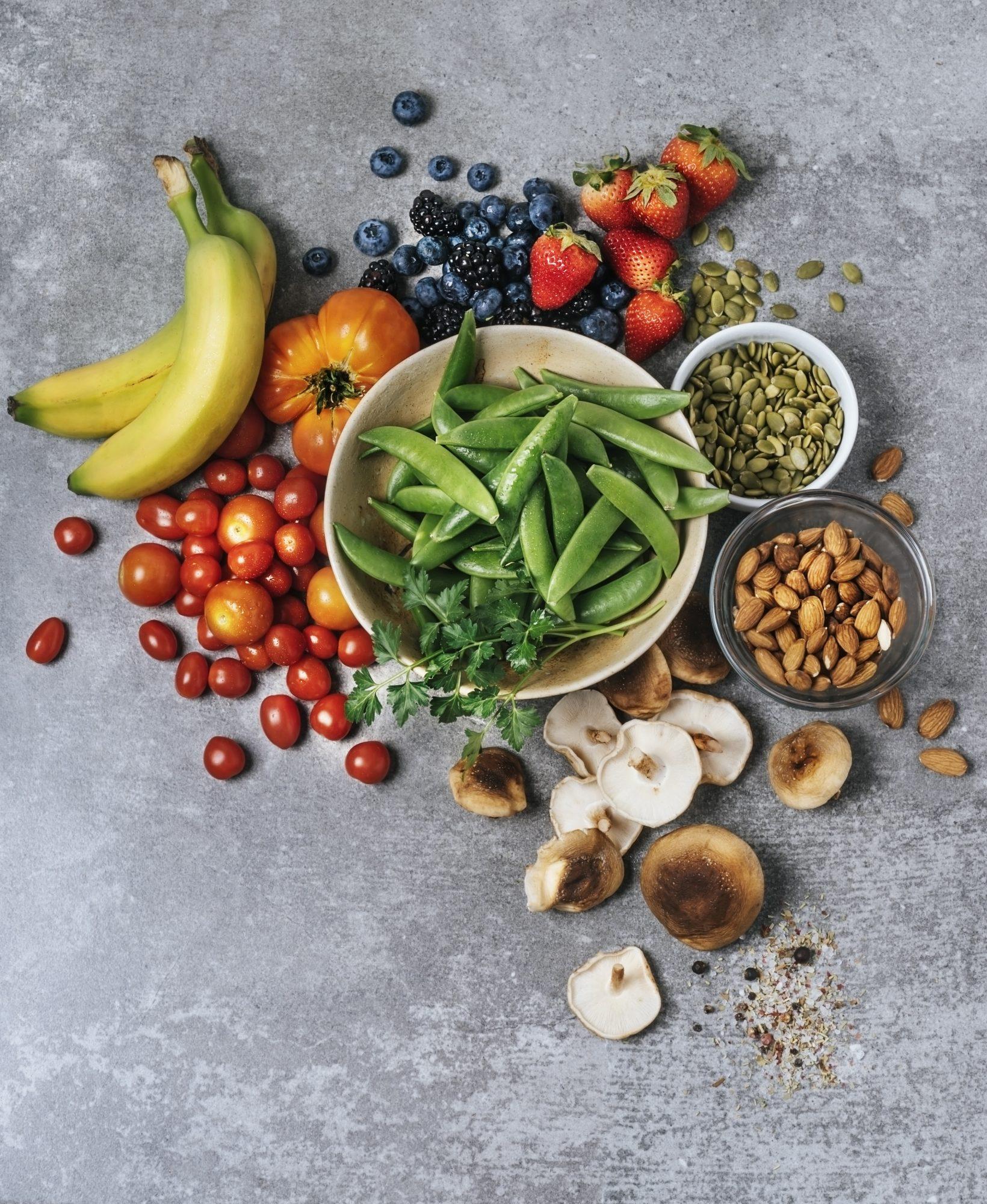 fibra, frutas, vegetales