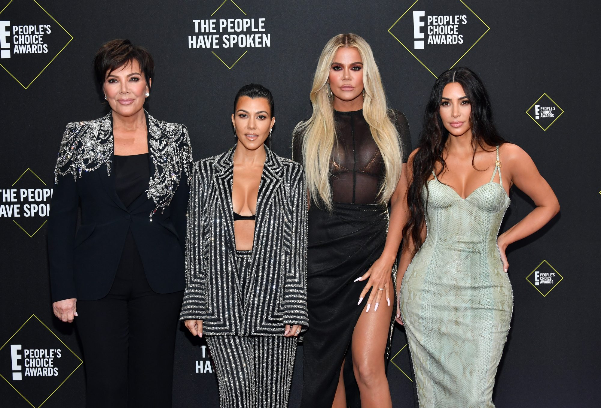 Kris Jenner, Kourtney Kardashian, Khloé Kardashian, Kim Kardashian West, People's Choice Awards