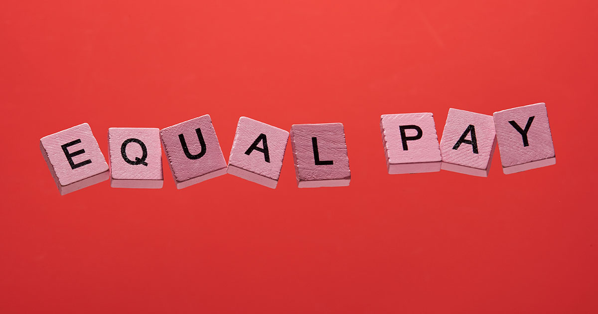 Pink Game Squares Spell EQUAL PAY