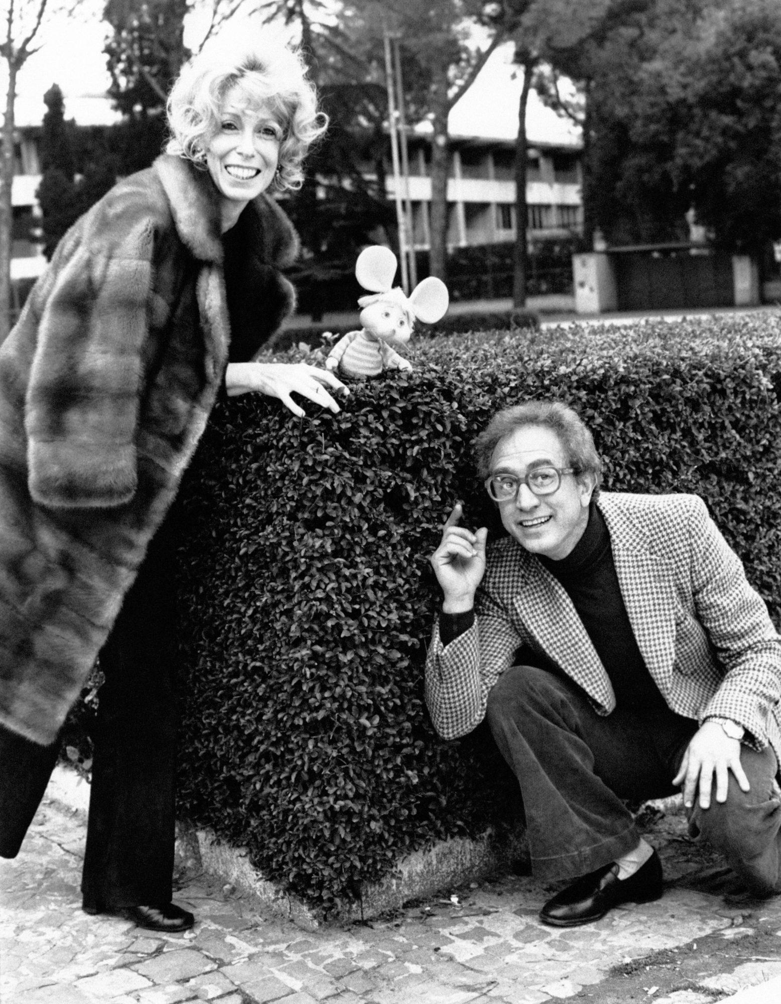 Maria Perego y Topo Gigio