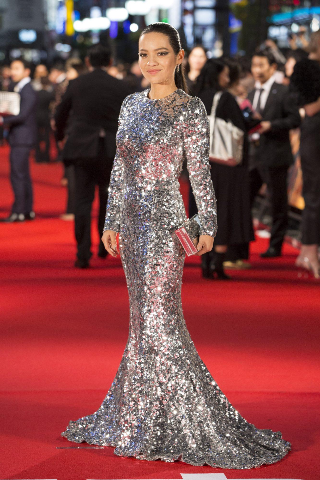 Natalia Reyes, look, vestido, japon