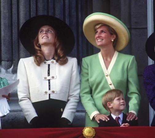 Sarah Ferguson and Princess Diana. Photo: Julian Parker/UK Press via Getty Images