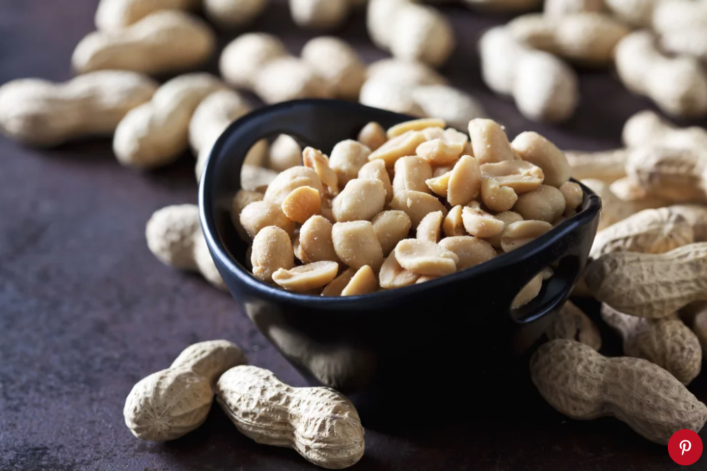 Bowl of salted peanuts. Photo: Getty