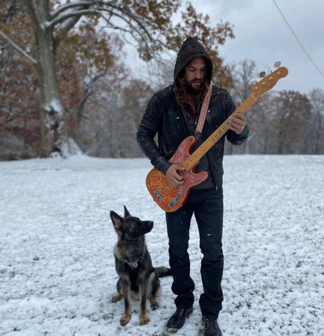 Jason Momoa, perro