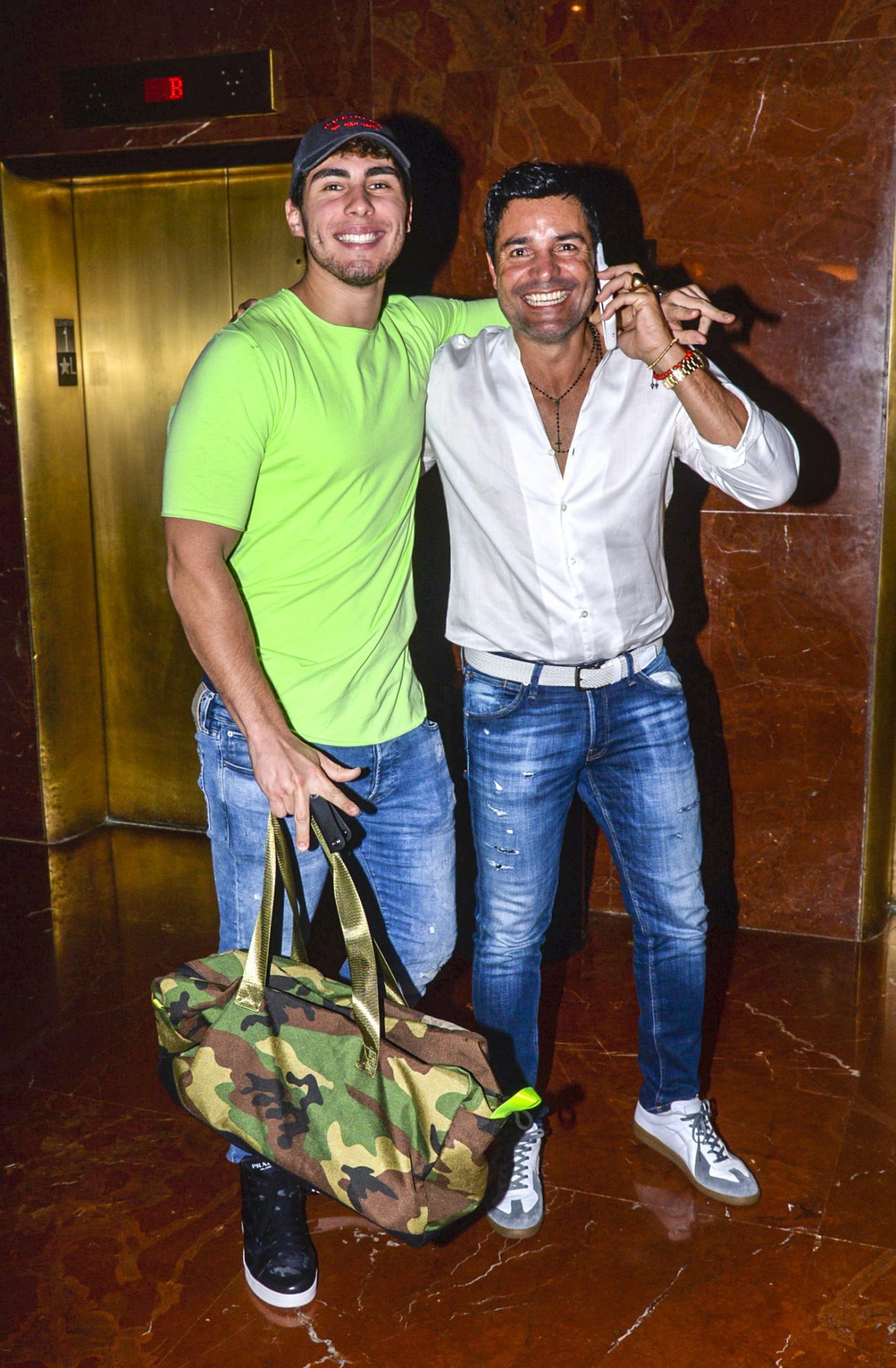EXC Chayanne y su hijo, Lorenzo