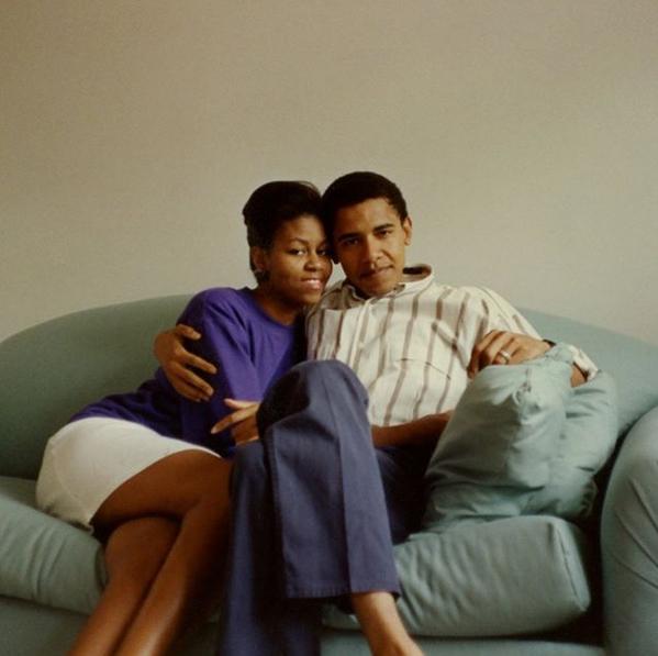 Barack Obama Michelle Obama jóvenes