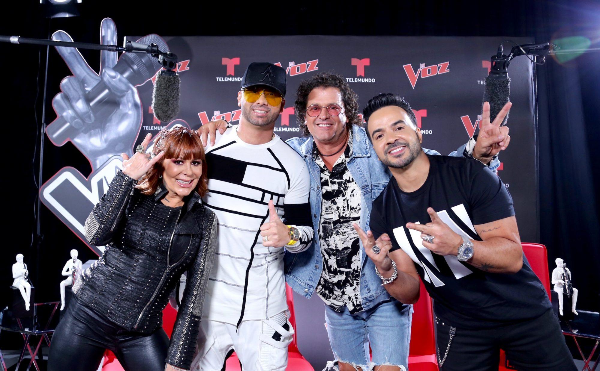 """Alejandra Guzmán, Wisin, Carlos Vives y Luis Fonsi regresan como coaches en la nueva temporada de """"La Voz"""