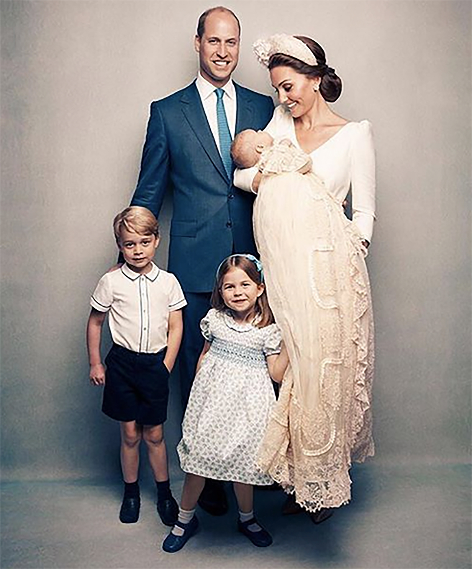 Príncipe George, príncipe William, princesa Kate, Princesa Charlotte, príncipe Louis