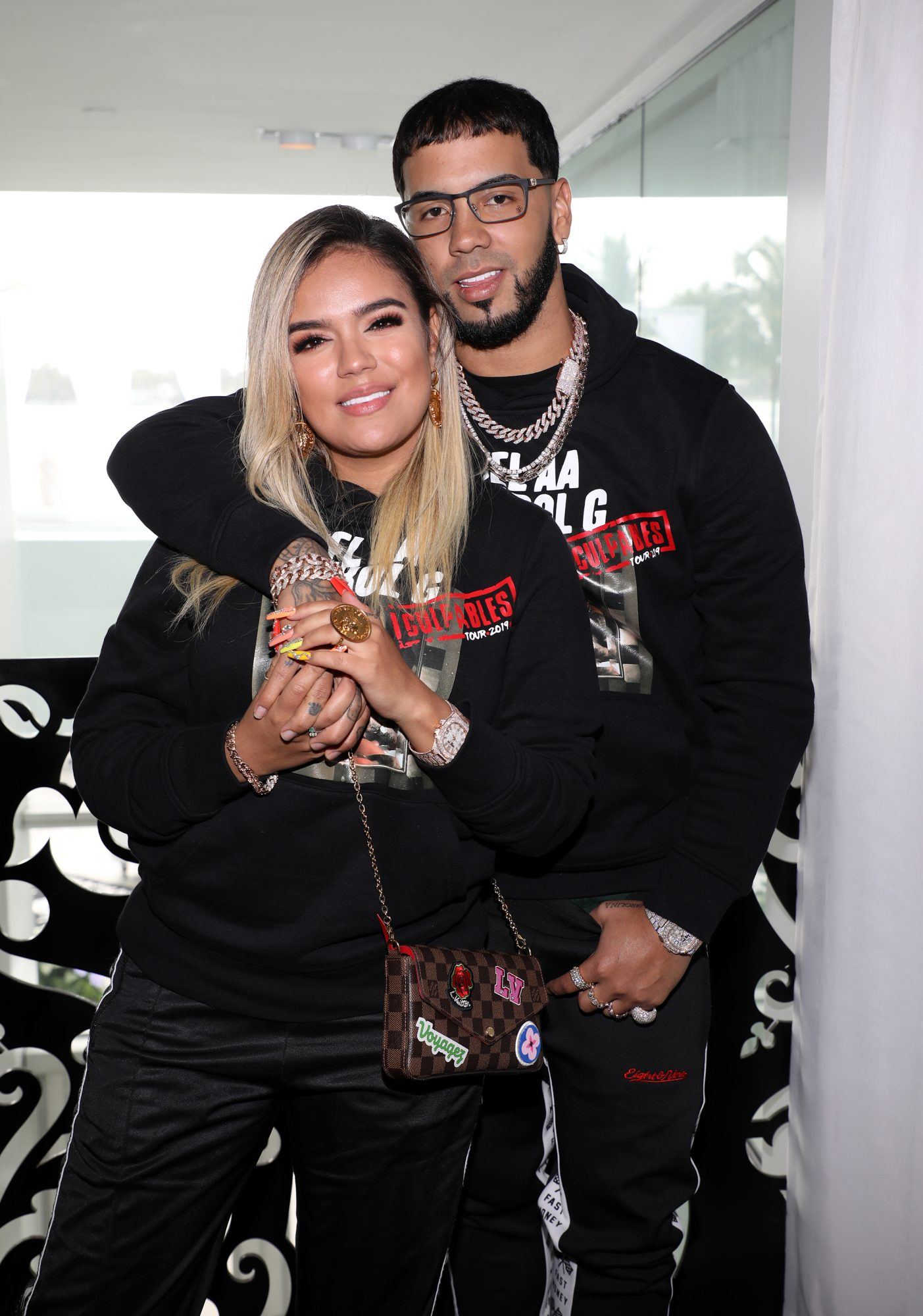 Anuel AA & Karol G Upcoming Latin America Tour - Press Conference