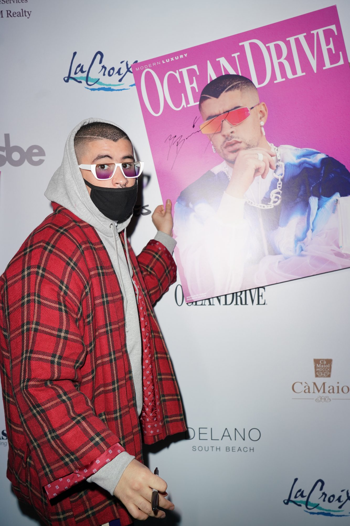 "Ocean Drive ""The Art Of The Party"" Bad Bunny December Cover Party"