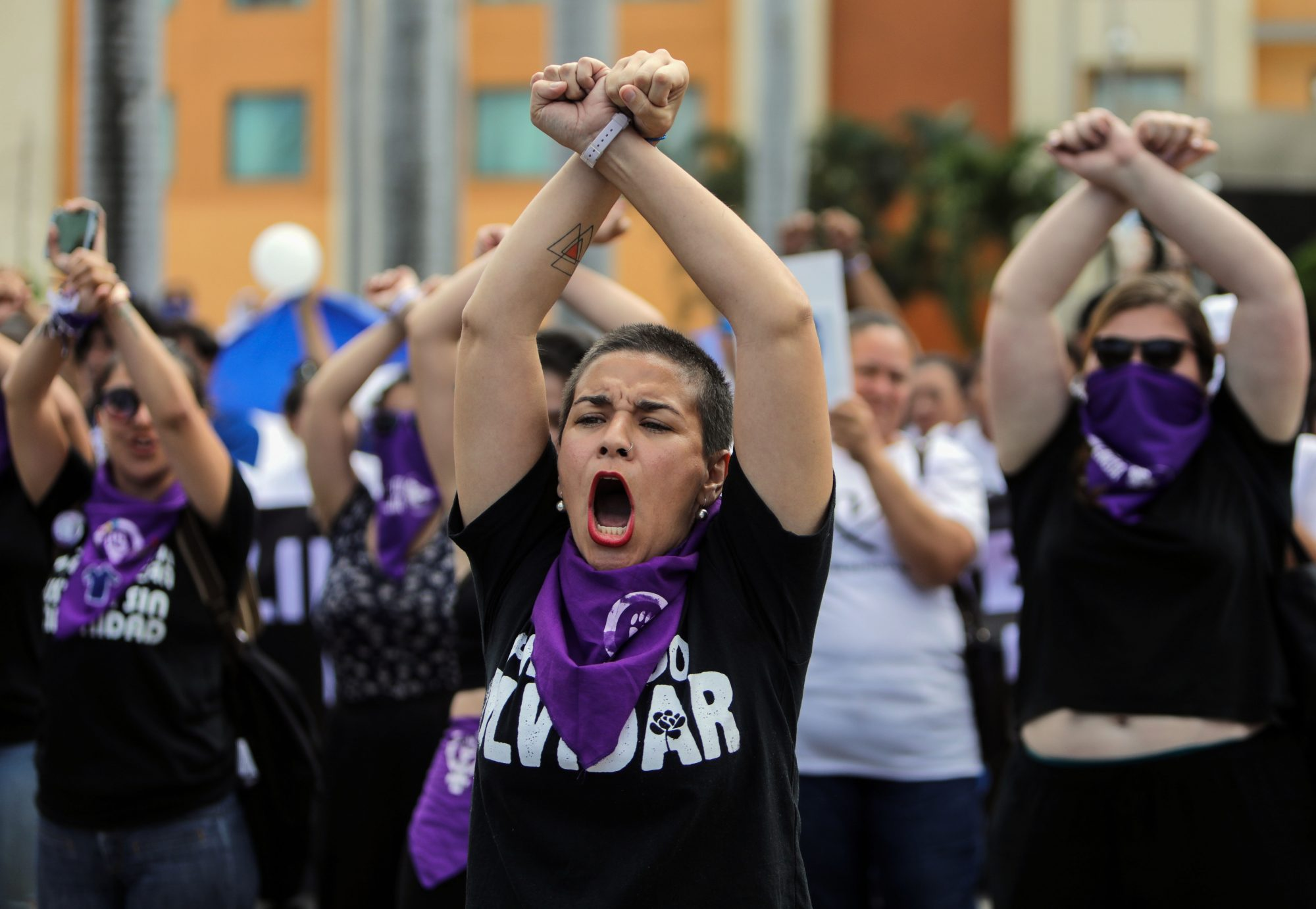 NICARAGUA-HUMAN RIGHTS-WOMEN-PROTEST