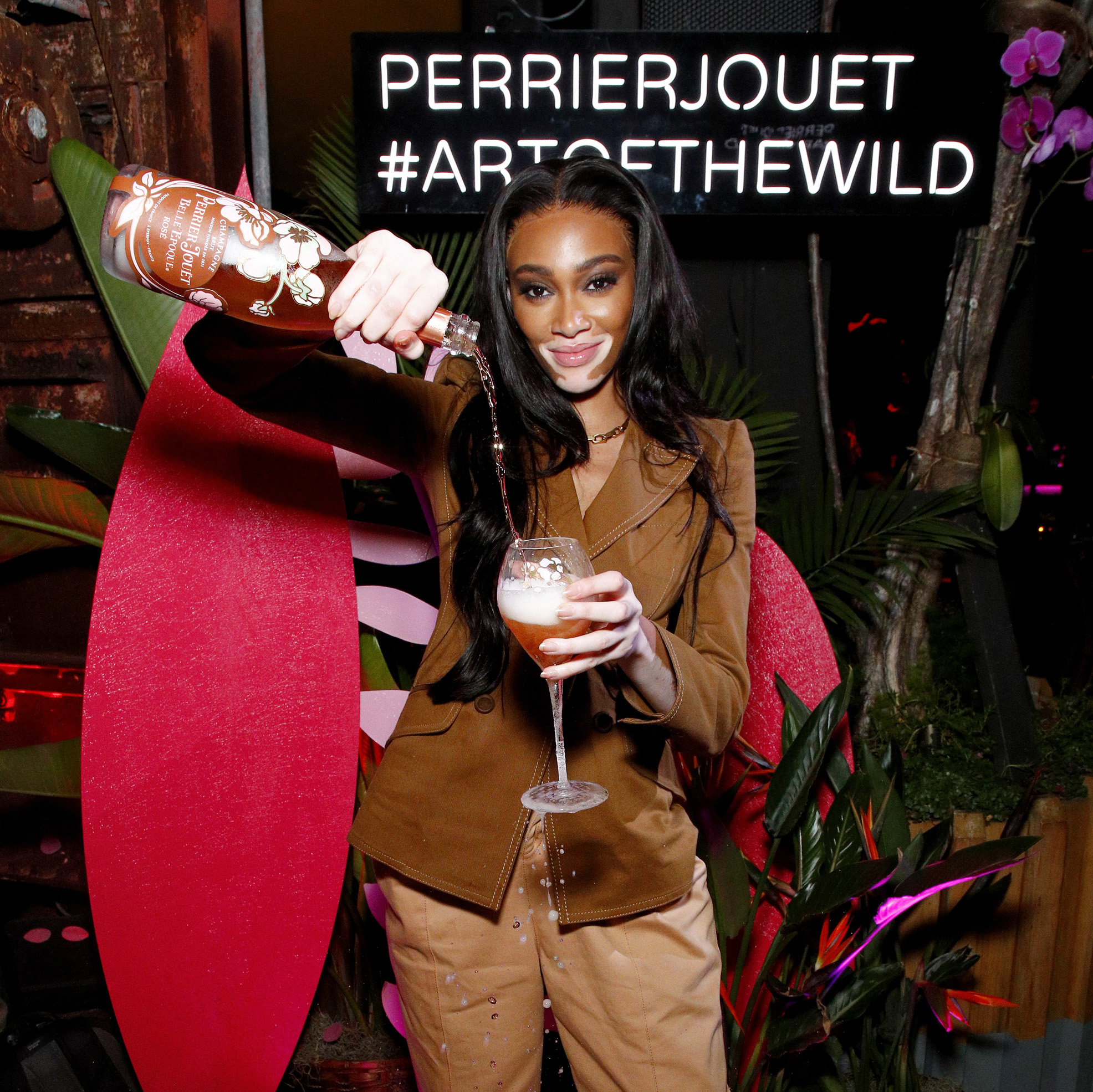 Perrier-Jouët Champagne Host Rosé Garden After Dark With Winnie Harlow In Miami