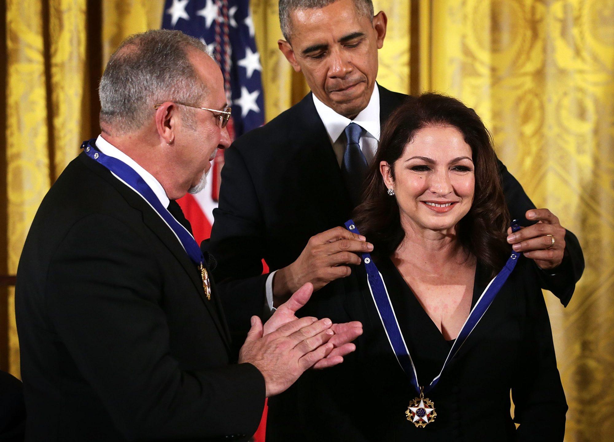 Emilio Estefan, Gloria Estefan, Barack Obama