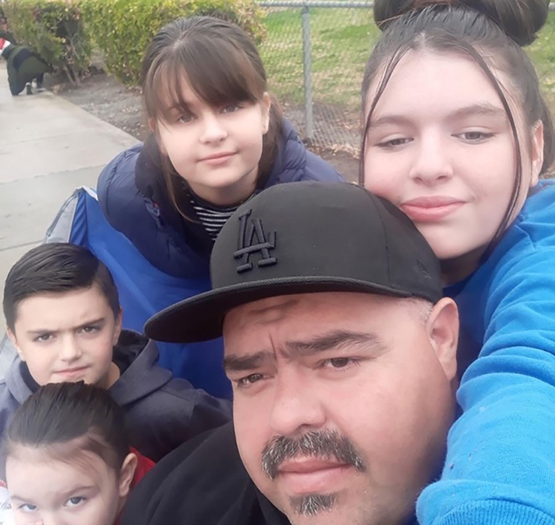 Juan Moreno y familia