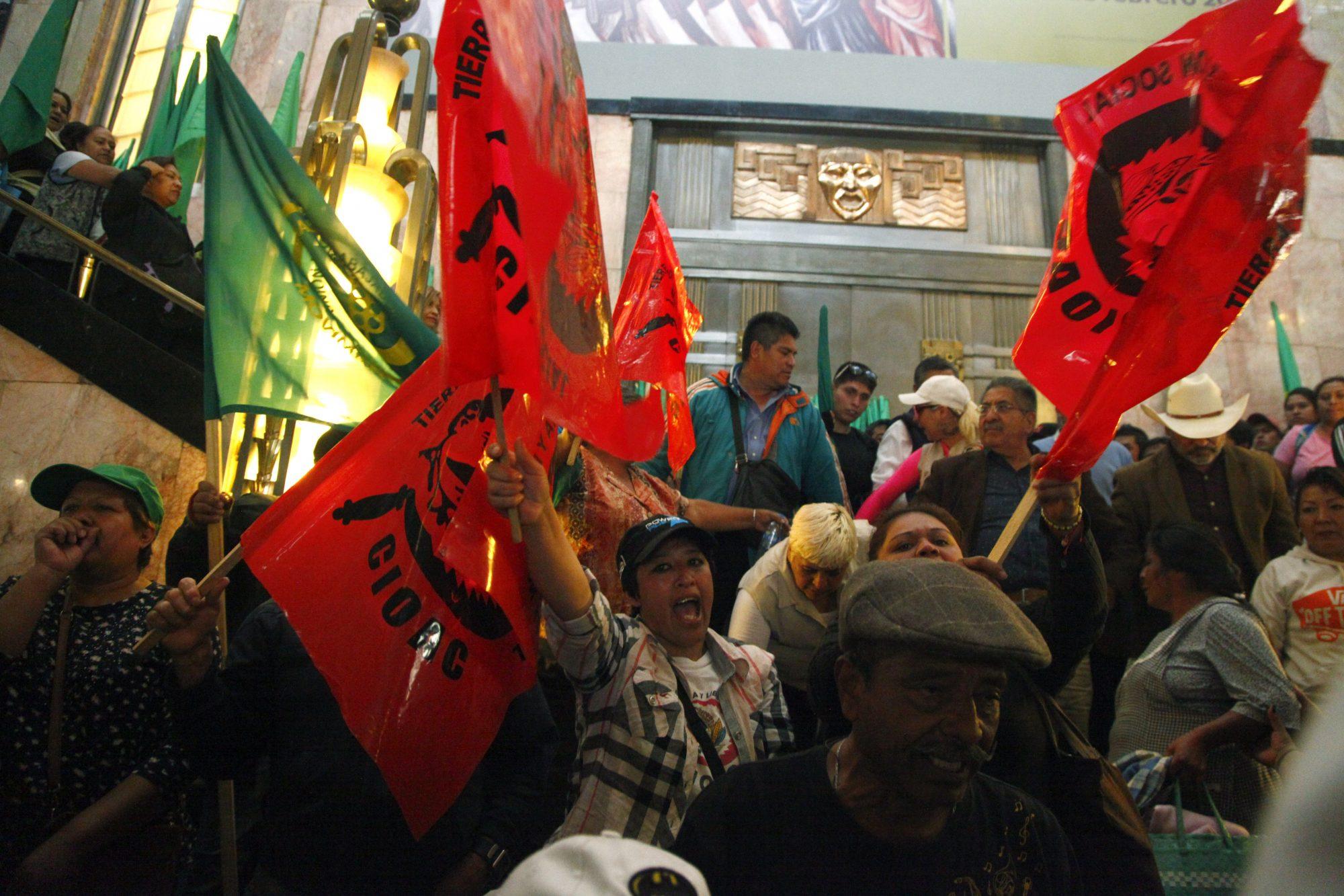 Protesta pintura La Revolución