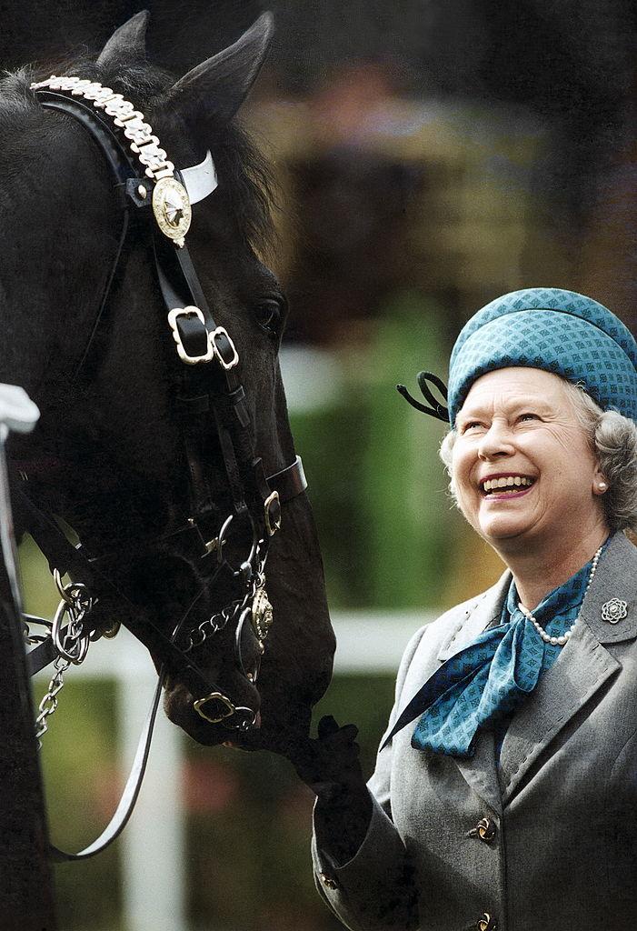 Reina Isabel con caballo
