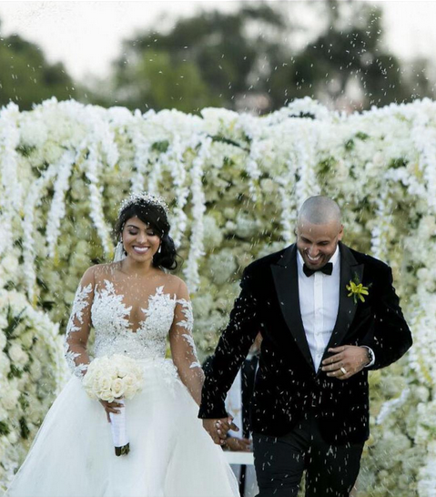 Nicky Jam y su esposa Angélica Cruz
