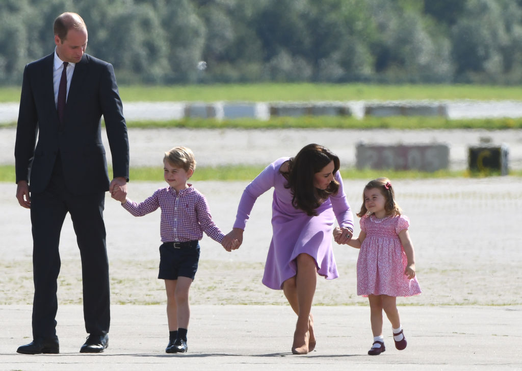 William y Kate con sus hijos