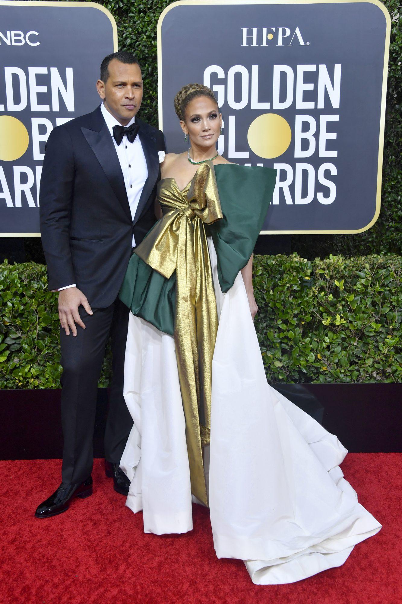 Alex Rodriguez y Jennifer Lopez Alfombra Roja Golden Globes 2020