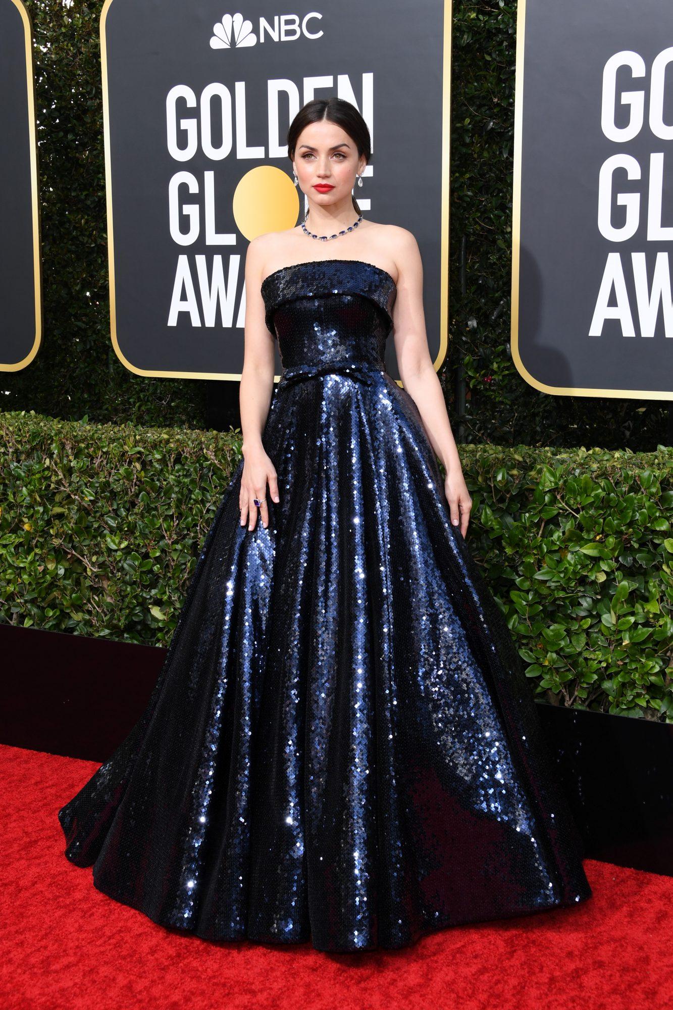 Ana de Armas Alfombra Roja Golden Globes 2020