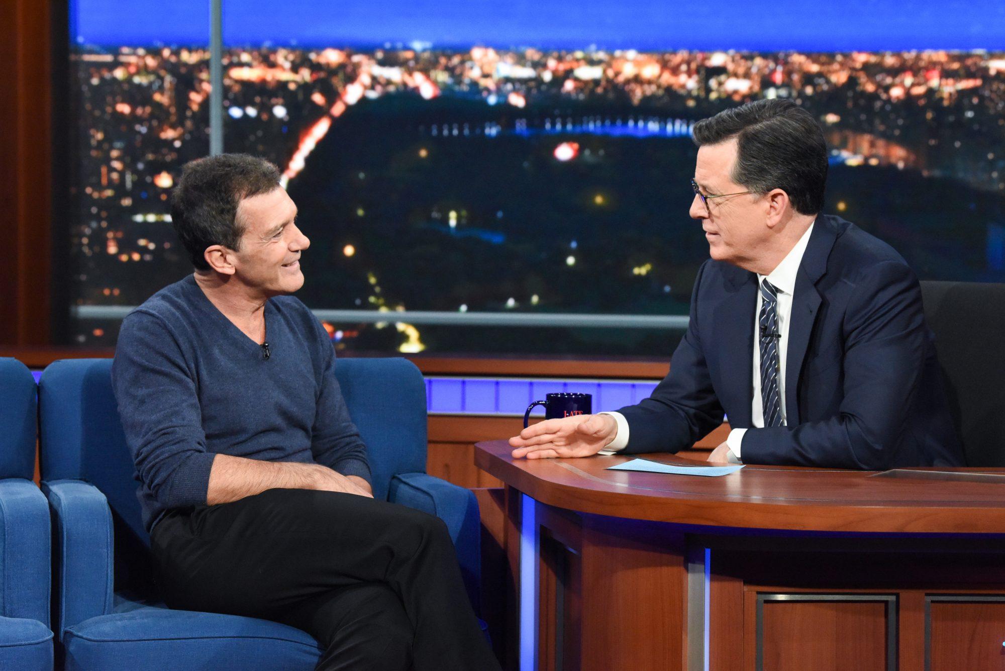 Antonio Banderas, Stephen Colbert