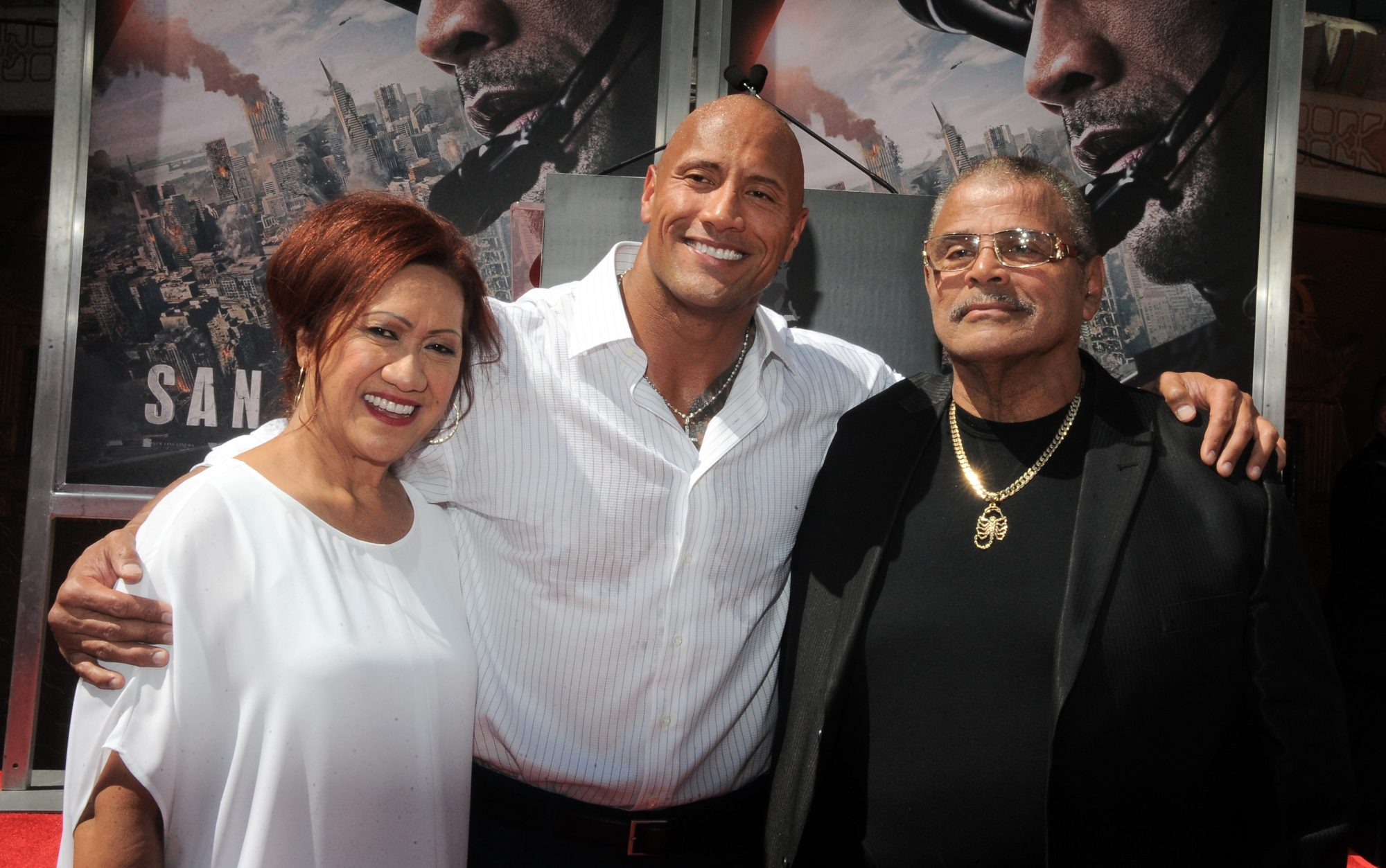 Dwayne Johnson y su papá Rocky Johnson