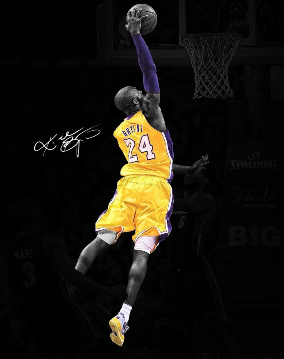 Kobe Bryant jugando basket